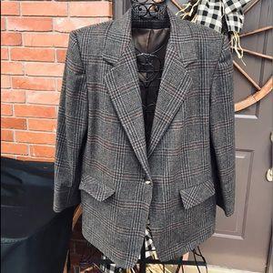 Women's Brown Wool Vintage Jacket W/ Lining